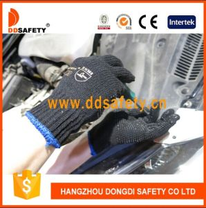 Ddsafety 2017 Knitted Black PVC Glove pictures & photos