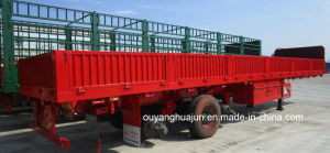 11 Meters Flatbed Semitrailer with Side Wall pictures & photos