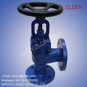 DIN Standards J44h Carbon Steel Angle Type Globe Valve Stop Valve for Chemical Industry