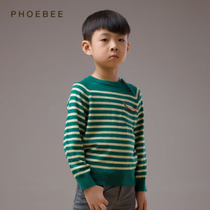 100% Wool Boys Clothes Striped Knitwear for Spring/Autumn pictures & photos