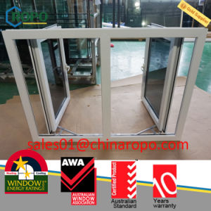 PVC Double Hurricane Casement Window, Gray Tint Hurricane Window Design pictures & photos