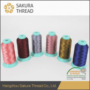Free Sample Multicolored Rayon Thread with Oeko-Tex100 1 Class pictures & photos