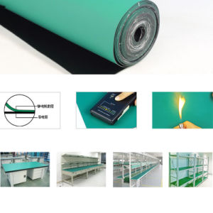 Anti-Static Rubber Mat for Cleanroom with Blue /Grey/Green Colors pictures & photos