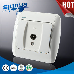 New design 1 Gang TV Socket pictures & photos