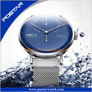 Water Resistant Quality Unisex Wrist Watch with Genuine Leather Strap pictures & photos