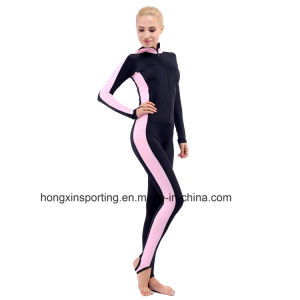 Women`S Long Lycra Rash Guard for Swimwear, and Surfing Wear pictures & photos