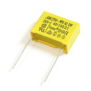 100NF %10 275VAC 13*12*6 Ll=4 X2 Metallized Polypropylene Film Capacitor Soft Wire pictures & photos