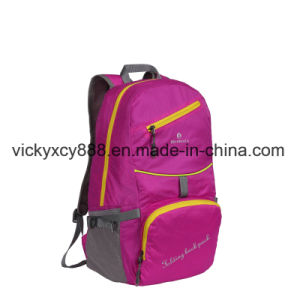Waterproof Folding Shopping Double Shoulder Storage Sport Backpack Bag (CY3703) pictures & photos