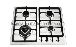 Cast Iron Tempered Glass Built in Gas Hob Gas Cooker Jzs54206A pictures & photos