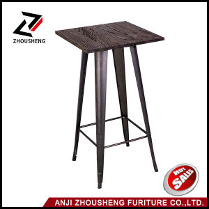 Flash Furniture Square Black Metal Indoor Table Metal Dining Table with Wooden Top pictures & photos