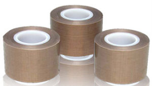 Silicone Adhesive Coated Slit Roll PTFE Film Tape pictures & photos