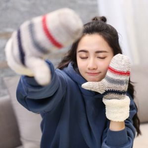 New Ladies Warm Full Finger Gloves Winter Thickening Gloves pictures & photos