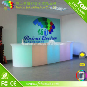 Rechargeable Illuminated Hotel Club Plastic LED Bar Counter
