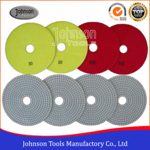 150mm Diamond White Wet or Dry Polishing Pad for Polishing Stone pictures & photos
