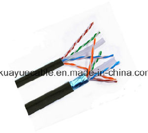 CAT6 Cable F/Utpcat6 Outdoor 4X23AWG +PE Jacket/ Wire pictures & photos