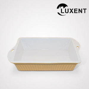 China Transportable Porcelain Restaurant Colorful Rectangle Baking Trays
