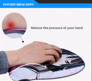 Gel Sexy Women Breast Mouse Pad with Wrist Support pictures & photos
