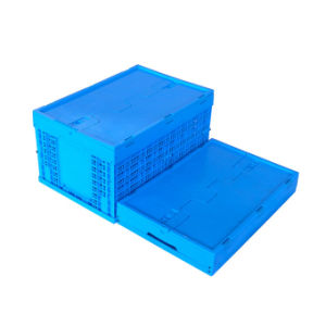 Wholesale Foldable Plastic Fruit Crates with Lids China Supplier pictures & photos