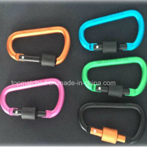 D Shape Locking Carabiner Hook Carabiner Clip with Multiple Colors pictures & photos
