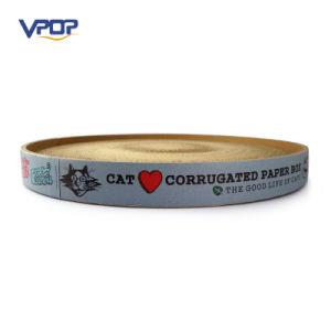 Printed Corrugated Cardboard Round Cat Scratcher Cat Box pictures & photos
