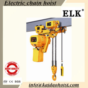 Elk 1ton Low Headroom Electric Chain Hoist with Trolley pictures & photos