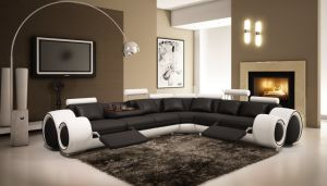 Modern Sofa Furniture with Corner Recliner Sofa Sectional Leather Sofa pictures & photos