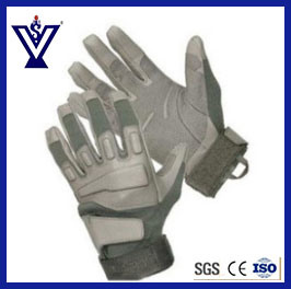 Military Tactical Gear Leather Full-Finger Gloves (SYSG-246) pictures & photos