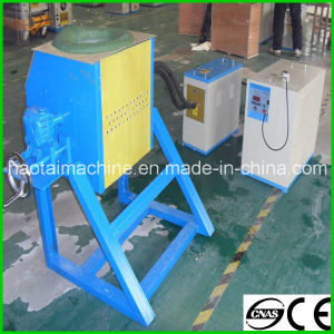 High Quality Portable Tilting Induction Gold Scrap Melting Furnace pictures & photos