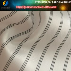 White Polyester Yarn Dyed Stripe Sleeve Lining Textile Fabric (S90.105) pictures & photos