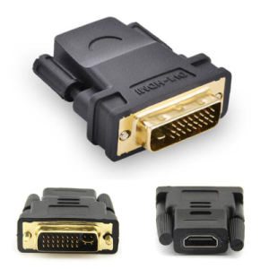 High Quality PC Adapter DVI to HDMI Converter DVI 24+1 Pin Male to HDMI Female Plug Adaptor pictures & photos