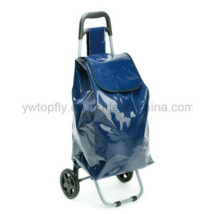 Folding Easy Storage Lightweight 2 Wheeled Festival Shopping Trolley Bag pictures & photos