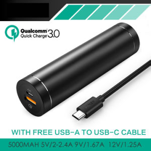 Quick Charge 3.0 Mini 5000mAh Power Bank for Phones pictures & photos