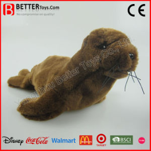 ASTM Realistic Stuffed Plush Animal Sea Lion Toy pictures & photos
