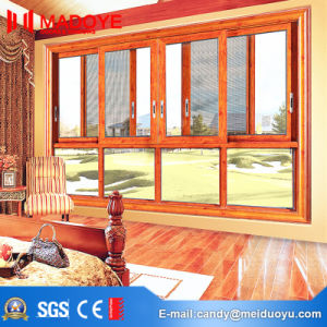American Style Sliding Window with Decorative Grill for Building Material pictures & photos