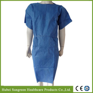 SMS Non-Woven Patient Gown with Short Sleeves pictures & photos