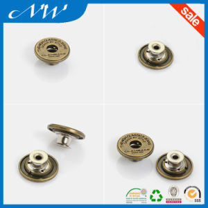Fashion Metal Buttons Alloy Shank Button Use in Jeans pictures & photos