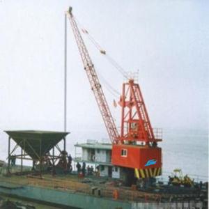 Wireluffing Lattice Boom Marine Barge Crane pictures & photos