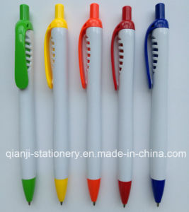 New White Imprinting Click Ball Pen (P1055A) pictures & photos