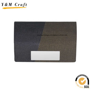 Customized Stainless Steel Genuine Leather Business Card Holder (M05051) pictures & photos