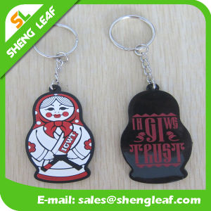 Doule Size 3D Rubber Kids Boy Keychain with Big Eyes pictures & photos