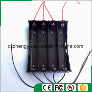 4X18650 Battery Holder with Red/Black Wire Leads pictures & photos