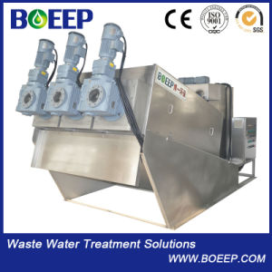 Small Footprint Stainless Steel 304 Screw Sludge Filter Press for Waste Water Treatment pictures & photos