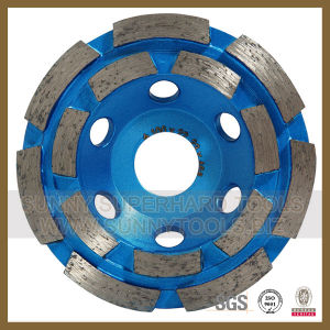 4 Inch Concrete Diamond Cup Grinding Wheel with Double Row pictures & photos