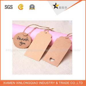 Full Color Printing Custom Design Bag Hang Tags with String pictures & photos