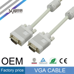 Sipu OEM VGA Cable for Monitor Computer Audio Video Cables pictures & photos