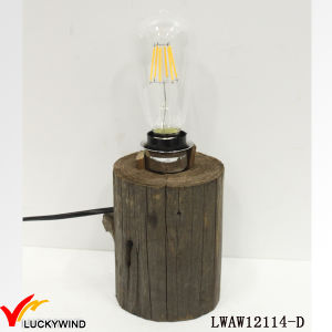 Old Aged Farmhouse Vintage Wood Base Table Lamp pictures & photos