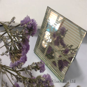 10mm+Silk+5mm Golden Mirror Customized Art Glass/Tempered Glass/Safety Glass for Decoration pictures & photos