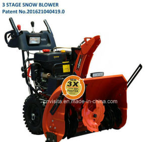 "3 Stage 414cc 30"" Lct Engine Snow Blower with LED Light Bar pictures & photos"