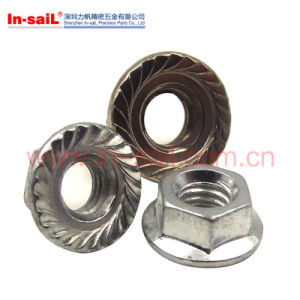 DIN1661 ISO4161 Standard Steel Hexagon Nuts with Flange pictures & photos