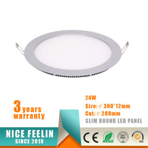 24W Ultra Slim Round LED Ceiling Light Panel pictures & photos